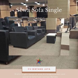 Sewa Sofa Single Hitam