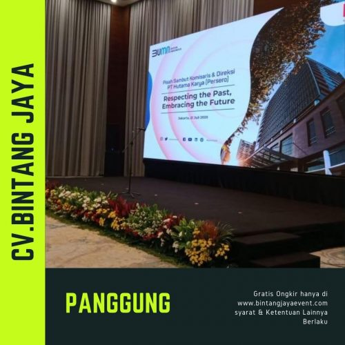 Sewa Panggung Meteran plus karpet murah promo new normal tahun 2020