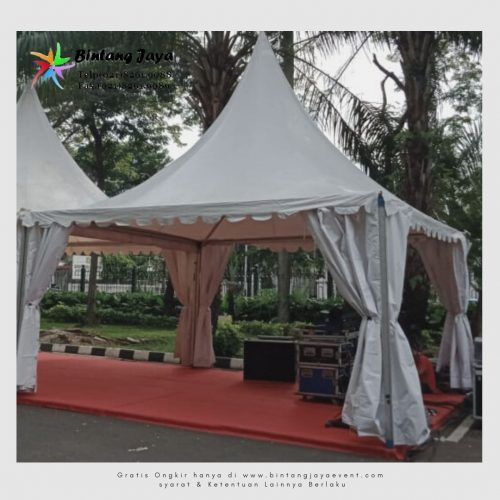 Sewa Tenda Kerucut Stand Bazar Event HUT RI Pelayanan 24