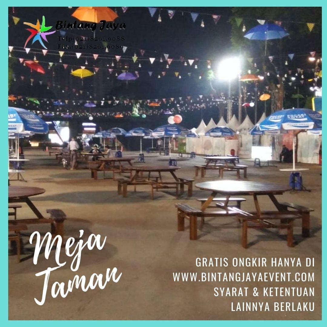 Pusat Rental Meja Taman Bulat Kualitas Terbaik Paling Murah Di Jakarta Barat