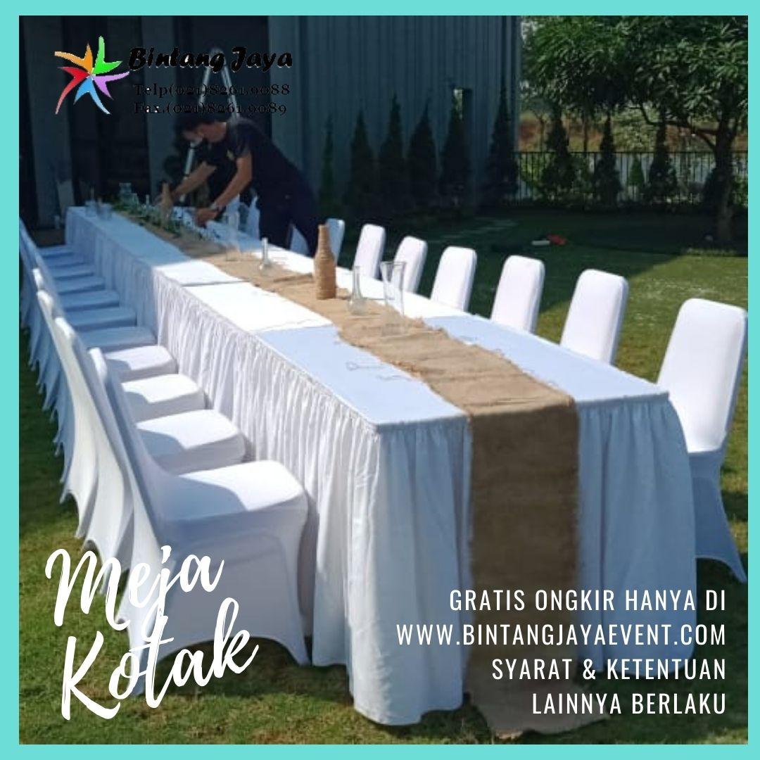 Sewa Meja Kotak Putih Acara Lakewood Nava Park BSD Tangerang