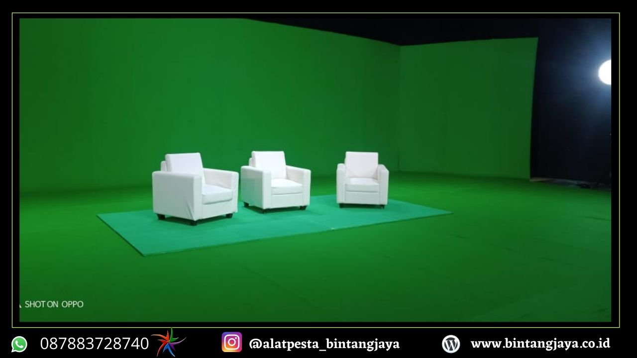 Sewa Sofa Putih Bersih Event Studio Sepat