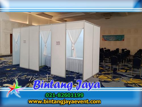 Sewa Ruang Atau Bilik Vaksin Acara BAPINDO Jakarta