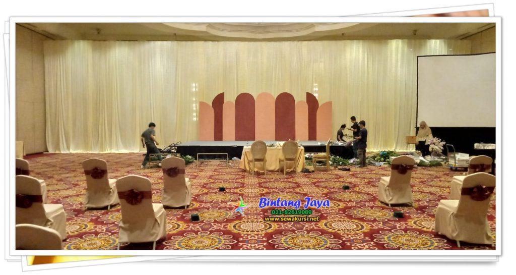 Sewa Tirai Filamin Krem Ritz Calton Mega Kuningan Jakarta